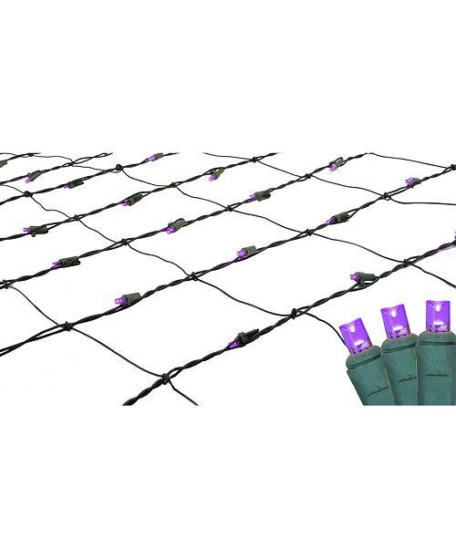 Northlight 4' x 6' Purple LED Wide Angle Christmas Net Lights - Green Wire