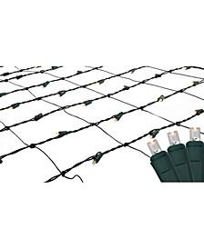 4' x 6' Warm White LED Wide Angle Christmas Net Lights - Green Wire
