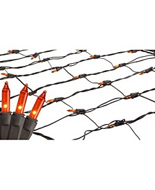 2' x 8' Orange Mini Tree Trunk Wrap Christmas Net Lights - Brown Wire