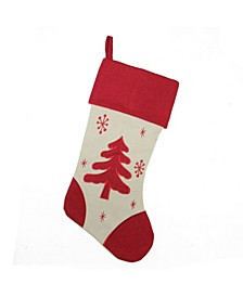 Tree with Snowflakes Christmas Stocking