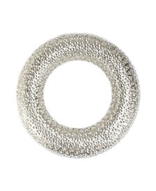 """20"""" All That Glitters Beaded and Gold Glittered Christmas Wreath - Unlit"""