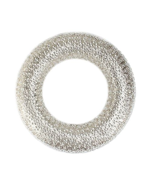 """Northlight 20"""" All That Glitters Beaded and Gold Glittered Christmas Wreath - Unlit"""