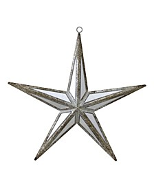 "7.5"" Mirrored Five Point Star Christmas Ornament"