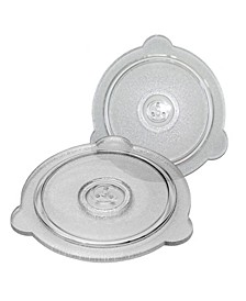 "Universal Glass Vented Cooking Lids - 8"" and 9"""