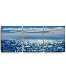 "Oceans 3 Piece Wrapped Canvas Coastal Wall Art Set, 20"" x 48"""