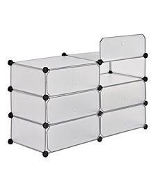 Clear 6-Cube Organizer System