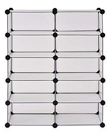Clear 10-Cube Organizer System