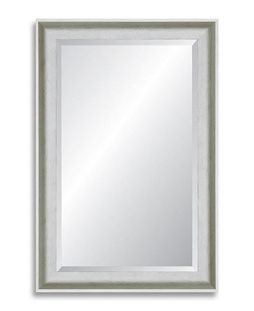 Reveal Frame & Decor Reveal Candlelight White Grande Beveled Wall Mirror
