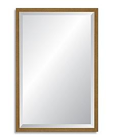 Reveal Venetian Gold  Lattice Beveled Wall Mirror