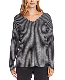 Metallic-Stripe Sweater