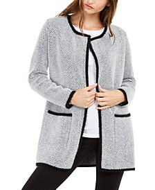 Herringbone Eyelash Cardigan, Created For Macy's