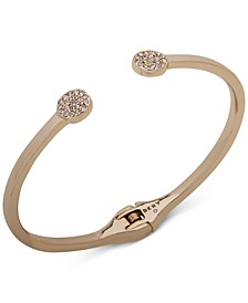 Gold-Tone Pavé Disc Cuff Bracelet