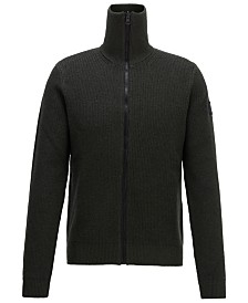 BOSS Men's Kamurly Zip-Through Knitted Jacket