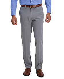 J.M. Haggar Men's Straight-Fit 4-Way Stretch Flat-Front Dress Pants