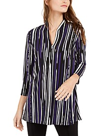 Printed Split-Neck Tunic Top, Created For Macy's