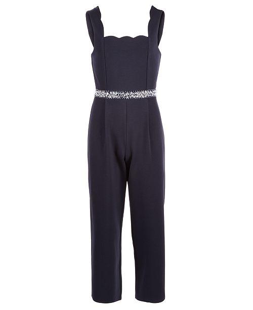 Monteau Big Girls Embellished Jumpsuit