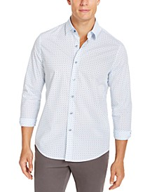 Men's Stretch Foulard Print Shirt, Created For Macy's