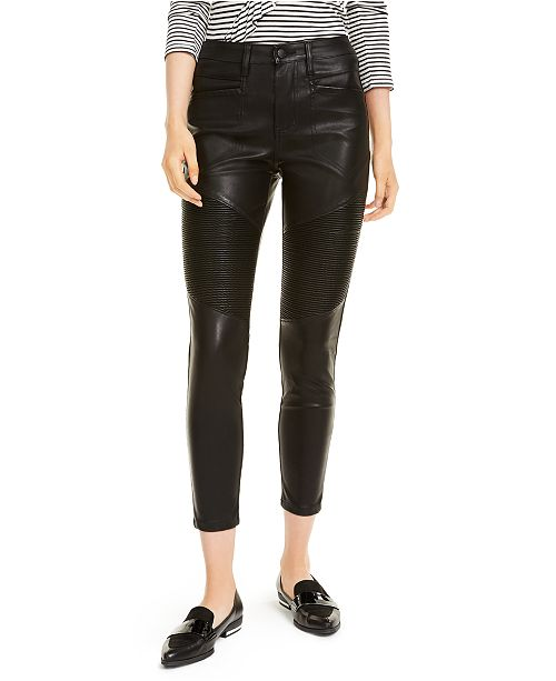OAT Faux Leather Moto Pants