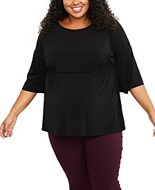 Plus Size Batwing Top