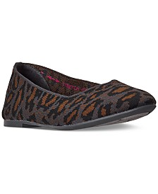 Skechers Women's Cleo Leopard Casual Ballet Flats from Finish Line