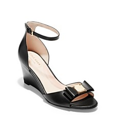 Cole Haan Women's Tali Grand Bow Wedge Sandals