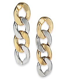 Two-Tone Large Chain Link Linear Drop Earrings, Created For Macy's
