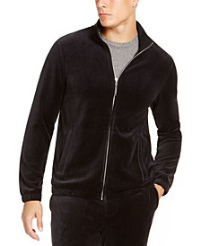 Men's Velour Track Jacket, Created For Macy's