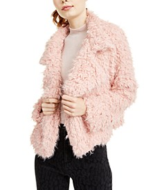 Juniors' Faux Fur Jacket