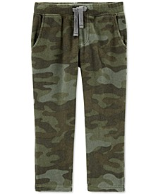 Toddler Boys Camo-Print Pull-On Fleece Pants