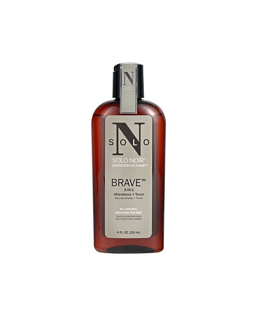 Solo Noir For Men Solo Noir Brave Aftershave and Toner, 4 Oz