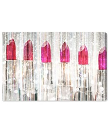"White Lipstick Collection  Canvas Art - 30"" x 45"" x 1.5"""