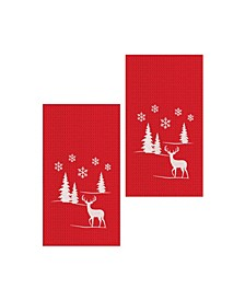 Sleigh Ride-1 Kitchen Towel, Set of 2