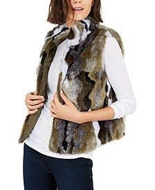 I.N.C. Camo Faux-Fur Utility Vest, Created For Macy's