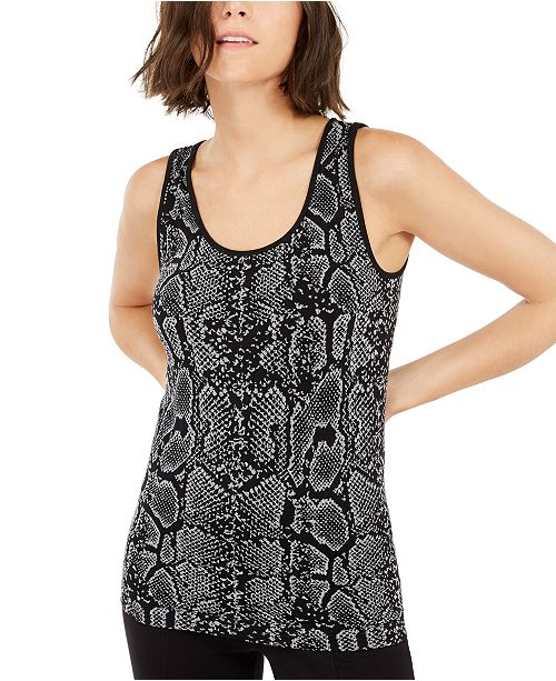 INC International Concepts I.N.C. Snake-Embossed Top, Created For Macy's