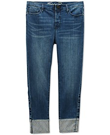 Jeans Cuffed Skinny Adaptive Jeans