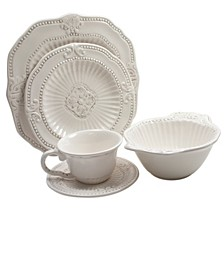 Baroque 20 Pc Dinnerware Set, Service for 4