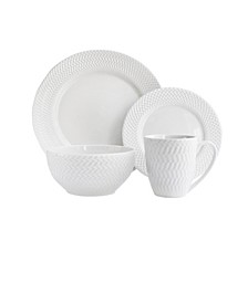 Bridgette Porcelain 16Pc Dinnerware Set
