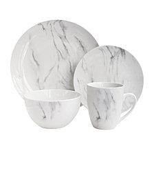 Jay Imports Marble 16Pc Dinnerware Set