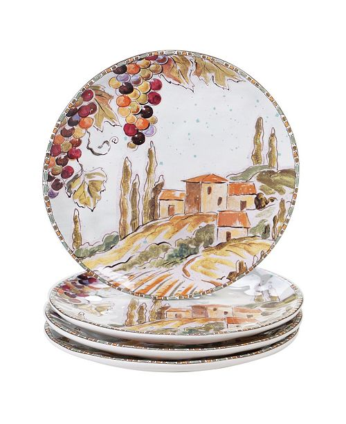 Certified International Tuscan Breeze 4-Pc. Salad Plates