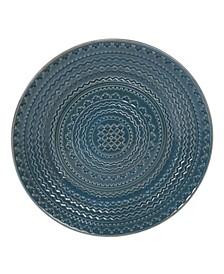 Aztec Teal Round Platter