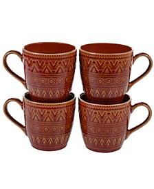 Aztec Rust 4-Pc. Mugs