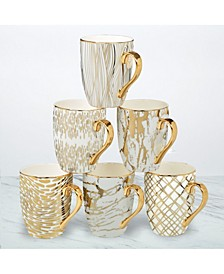 Matrix 6-Pc. Gold Plated Mugs