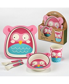 Owl Eco Friendly Bamboo Fiber 5-Pc. Kids Dinnerware Set