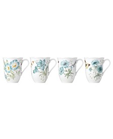 Butterfly Meadow Turquoise Set/4 Mug