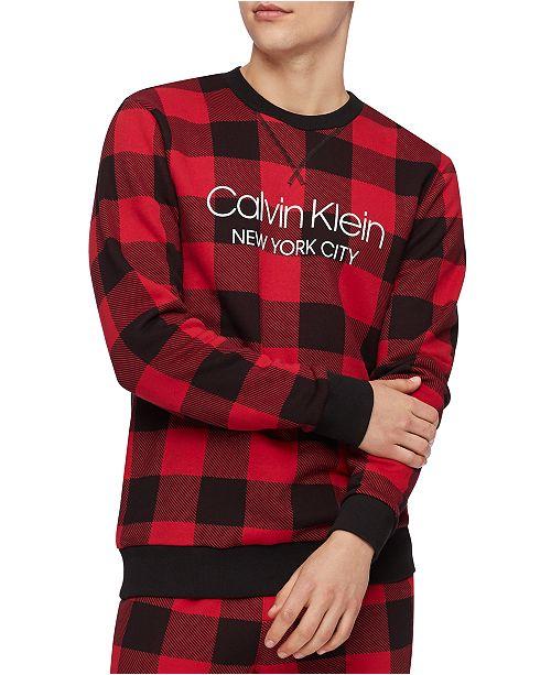 Calvin Klein Buffalo Check red sweatshirt: Sweatshirts