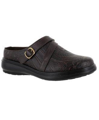 Women/'s Easy Street Gentle Black Leather Casual Slip-on Shoe