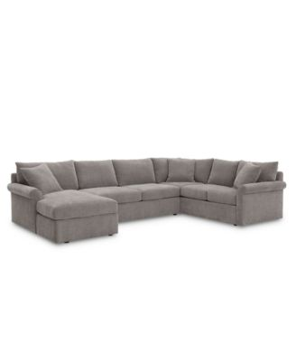 Wedport 3-Pc. Fabric Sofa Return Sectional Sofa with Chaise, Created for Macy's