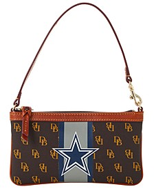 Dallas Cowboys Stadium Signature Large Slim Wristlet