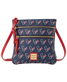 Houston Texans Saffiano Triple Zip Crossbody
