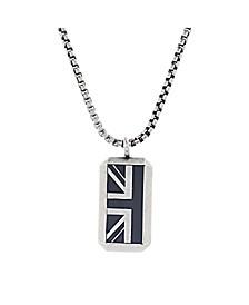 Enamel British Flag Charm Men's Necklace